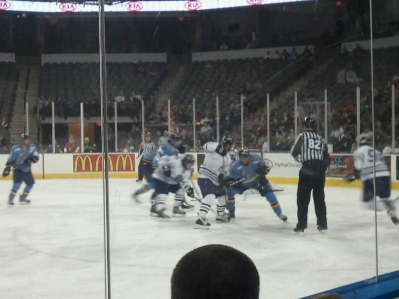 Seating view for Sears Centre Section 104 Row 2 Seat 10