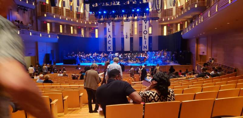 Seating view for The Music Center at Strathmore Section Orchestra Tier Row KK Seat 2