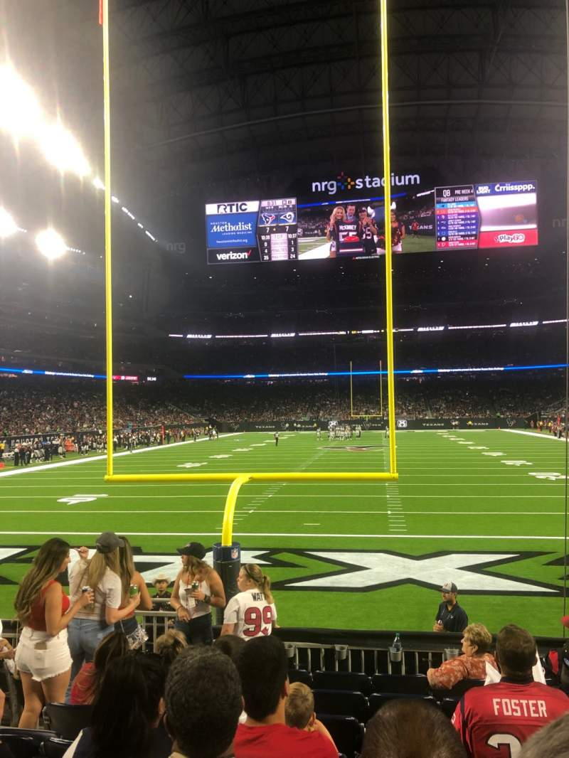 Seating view for NRG Stadium Section 136 Row H Seat 20