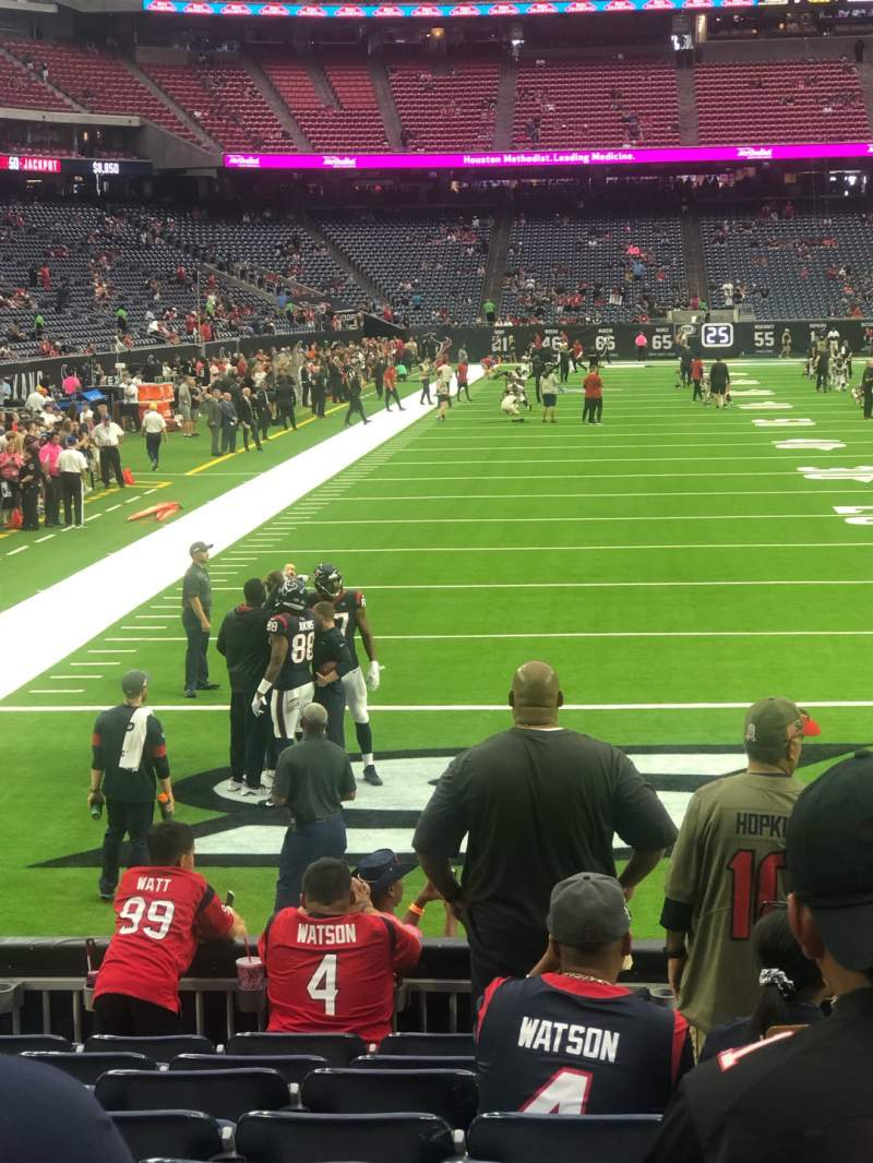 Seating view for NRG Stadium Section 118 Row K