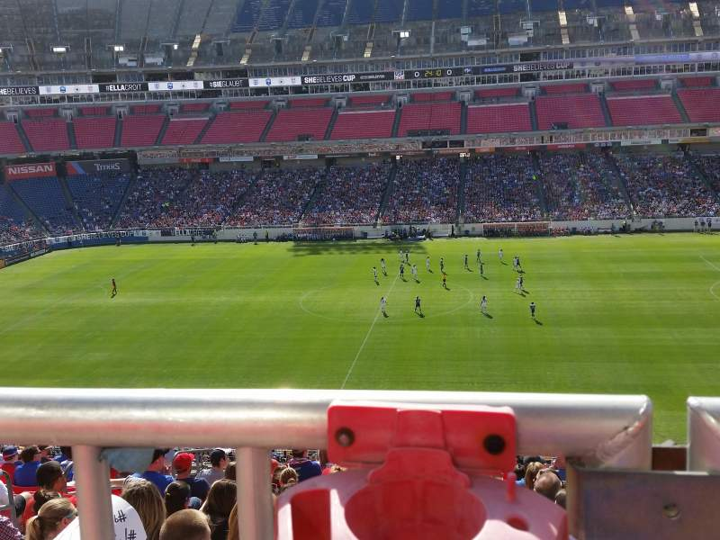Seating view for Nissan Stadium Section 210 Row Assessible-L? Seat 15