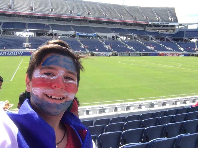 Seating view for Camping World Stadium Section 111 Row F Seat 3