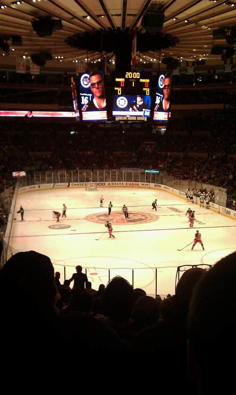 Seating view for Madison Square Garden Section 233 Row E Seat 5
