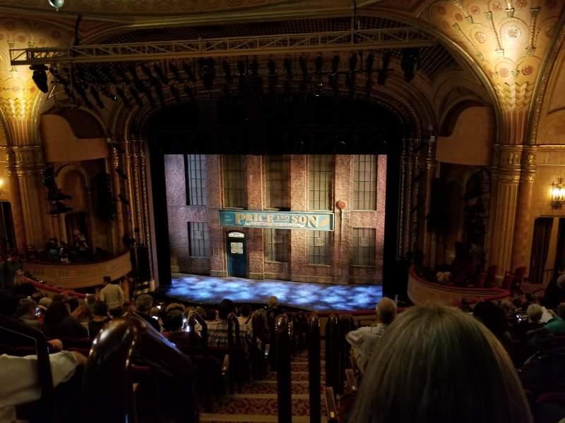 Al Hirschfeld Theatre, section: Rear Mezzanine Right, row: O, seat: 2