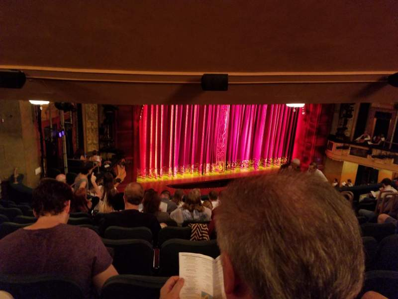Shubert Theatre, section: Mezzanine Left, row: J, seat: 17