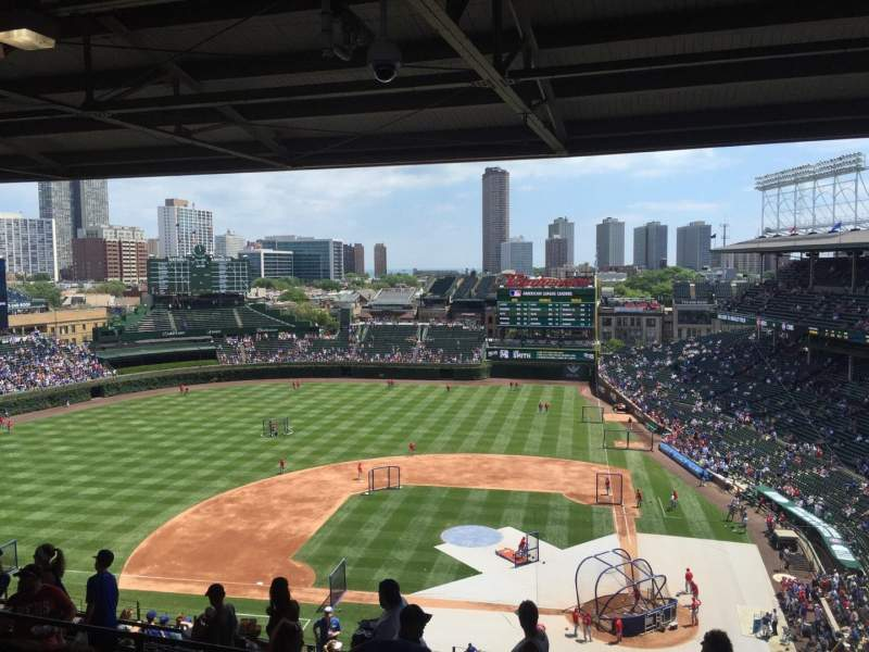 Seating view for Wrigley Field Section 516 Row 6 Seat 106