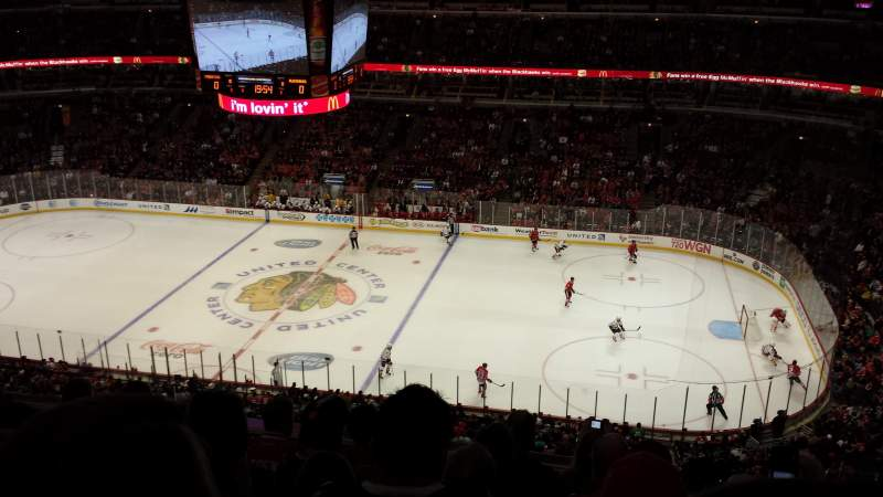 Seating view for United Center Section 316 Row 6 Seat 3