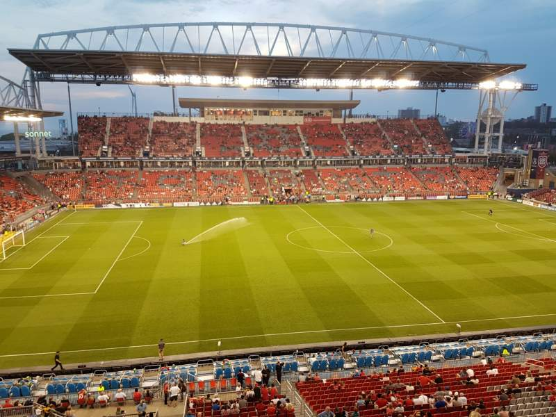 Seating view for BMO Field Section 208A Row 3 Seat 117