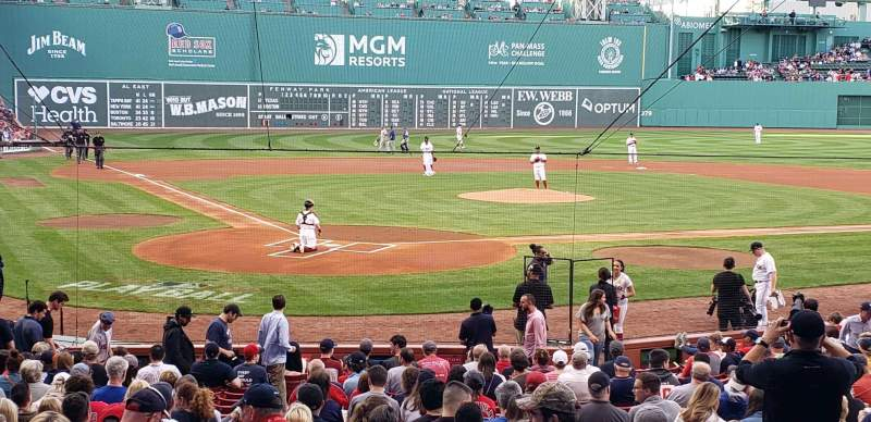 Seating view for Fenway Park Section Loge Box 126 Row GG  Seat 6