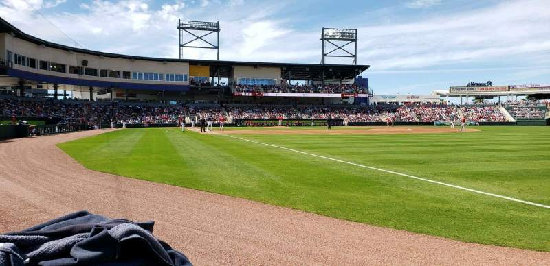 Seating view for CoolToday Park Section 102 Row 1 Seat 8