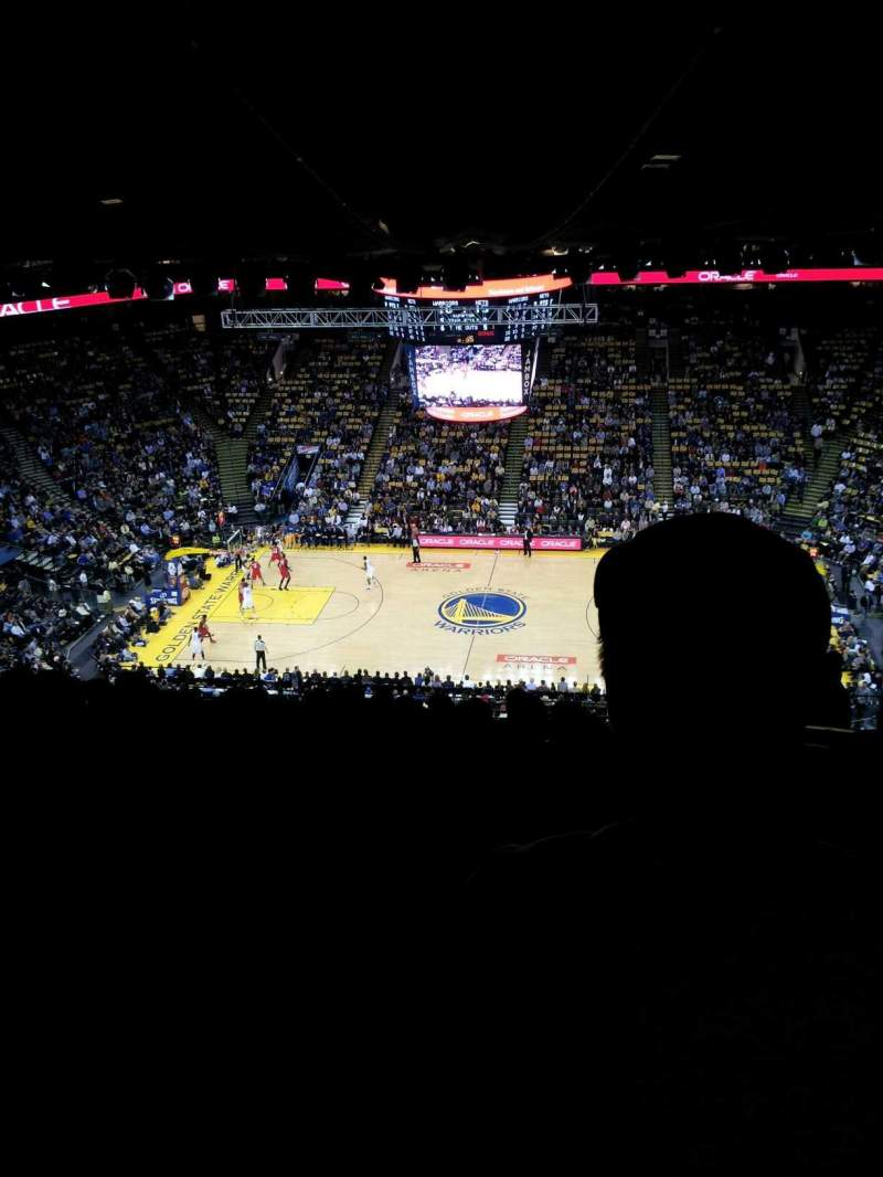 Seating view for Oracle Arena Section 216 Row 15 Seat 6