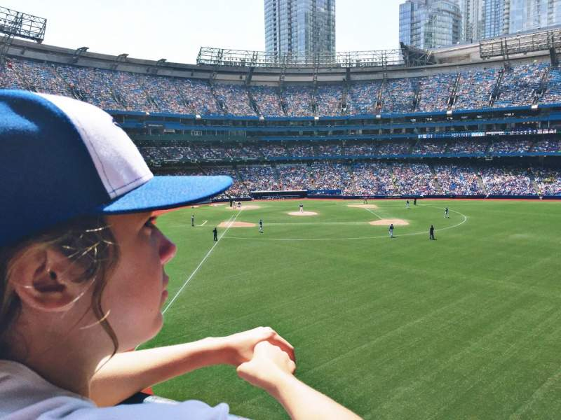 Seating view for Rogers Centre Section 209R Row 1 Seat 9