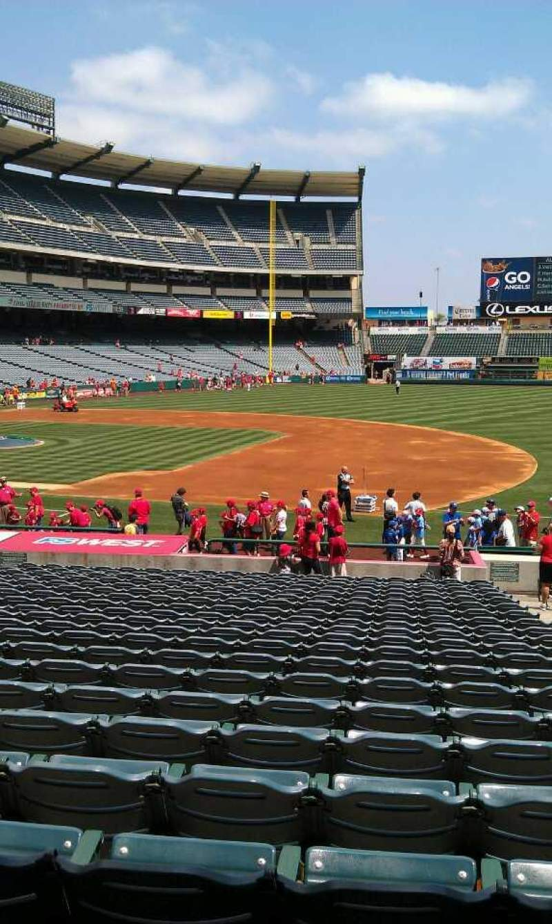 Seating view for Angel Stadium Section 126 Row z Seat 25