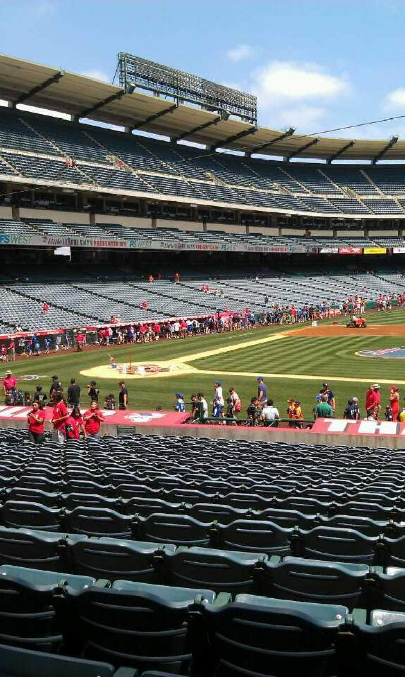 Seating view for Angel Stadium Section 124 Row z Seat 25
