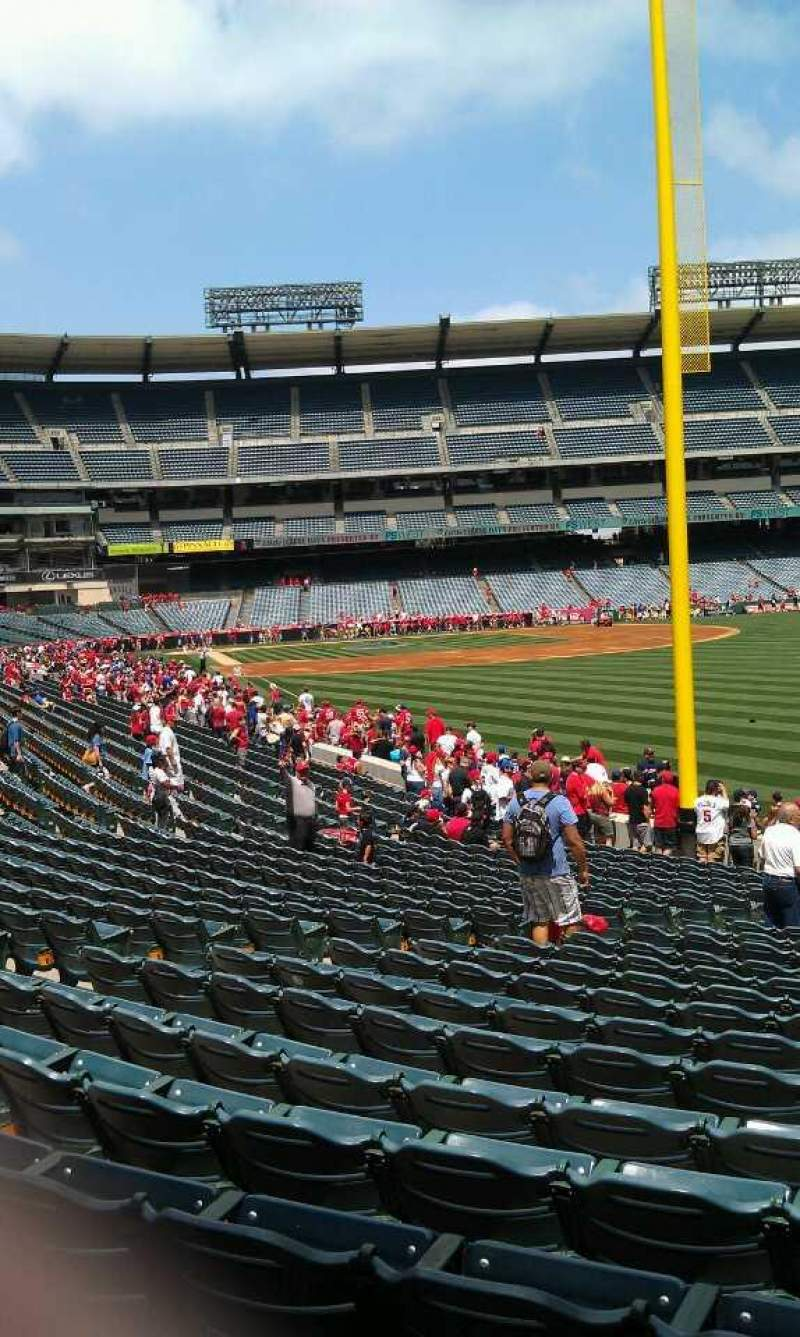 Seating view for Angel Stadium Section 134 Row y  Seat 12