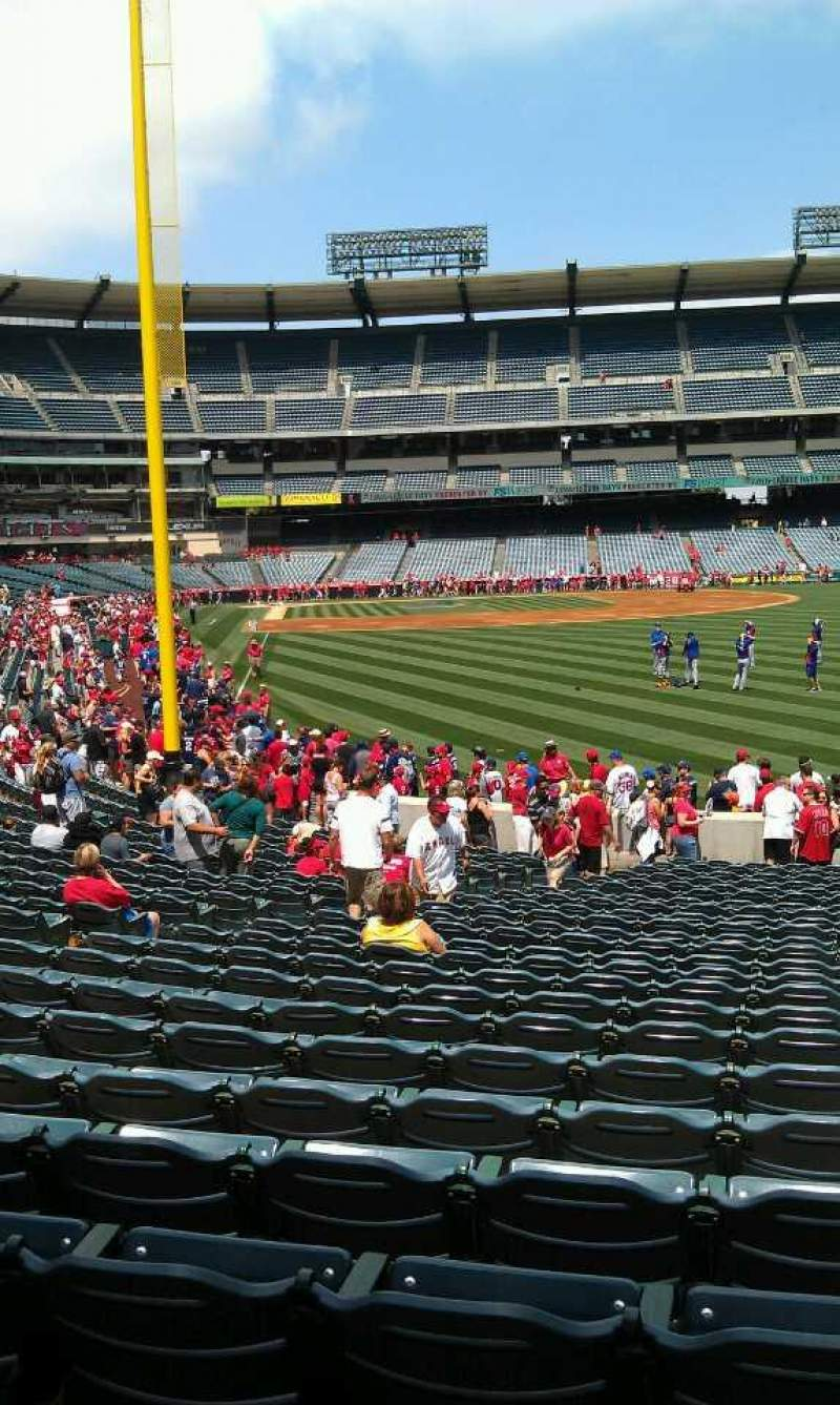 Seating view for Angel Stadium Section F135 Row y Seat 35