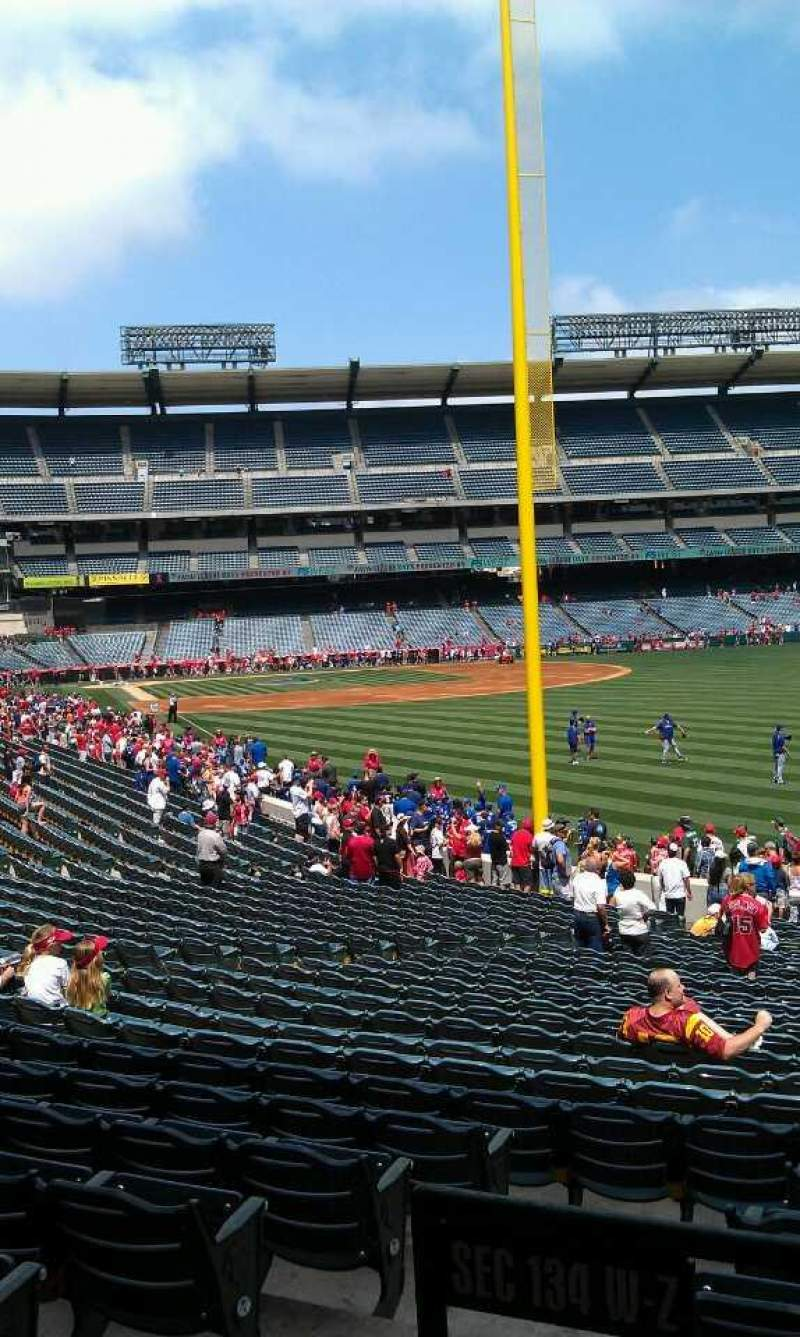 Seating view for Angel Stadium Section T232 Row a Seat 1