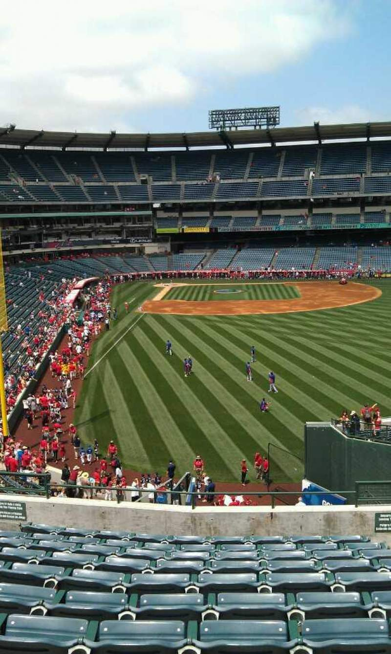 Seating view for Angel Stadium Section T233 Row l Seat 9