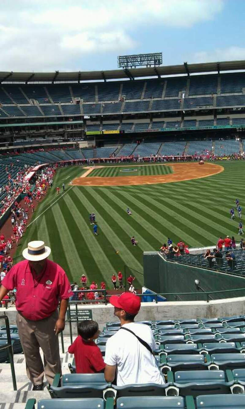 Seating view for Angel Stadium Section 233 Row l Seat 2