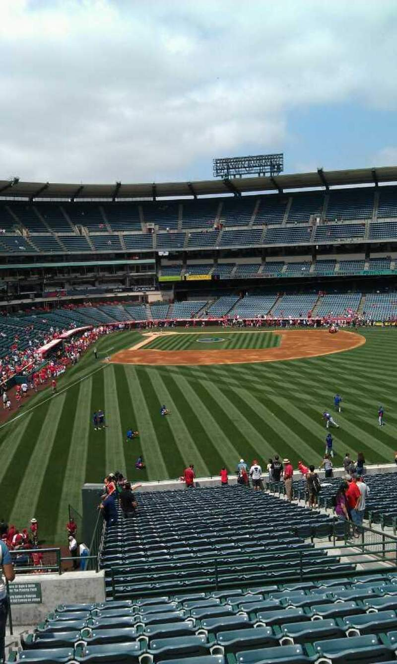 Seating view for Angel Stadium Section 242 Row l Seat 2