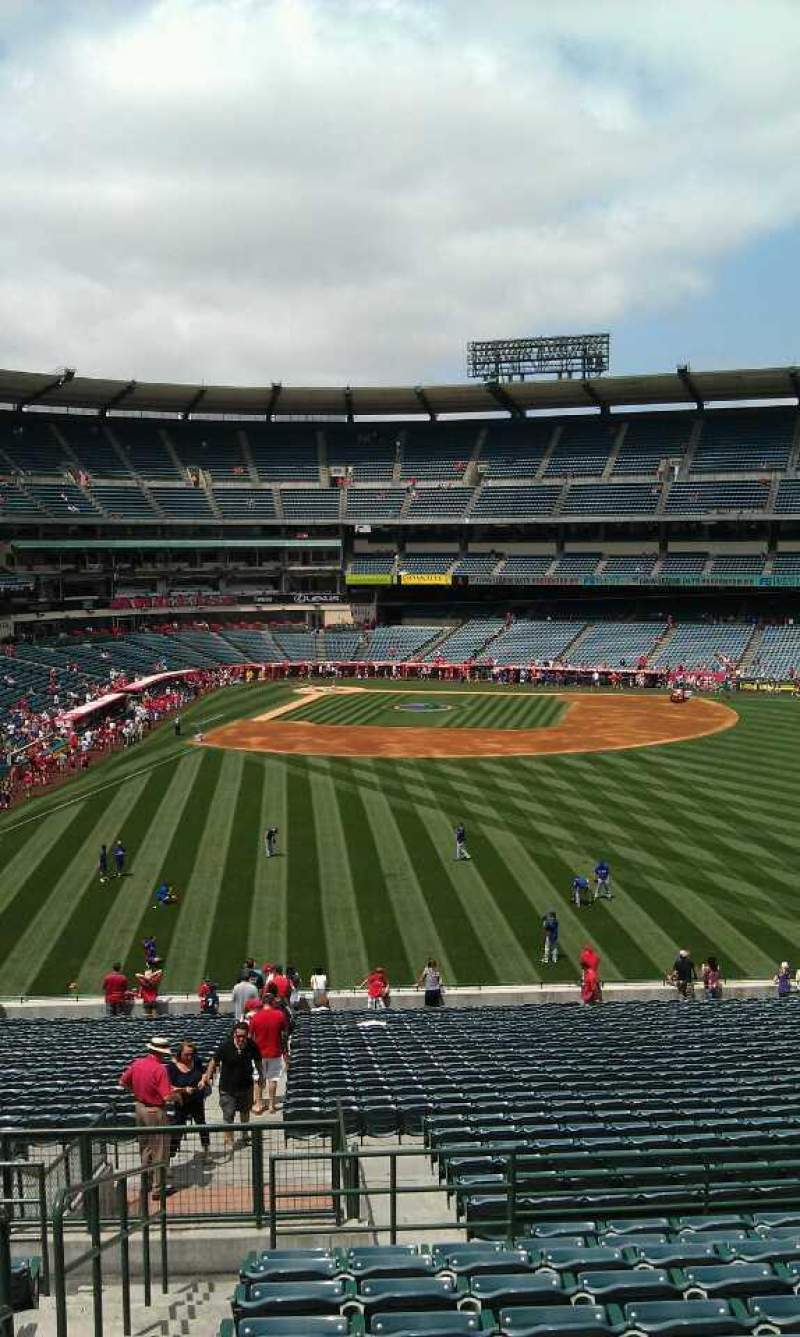 Seating view for Angel Stadium Section 245 Row l  Seat 1
