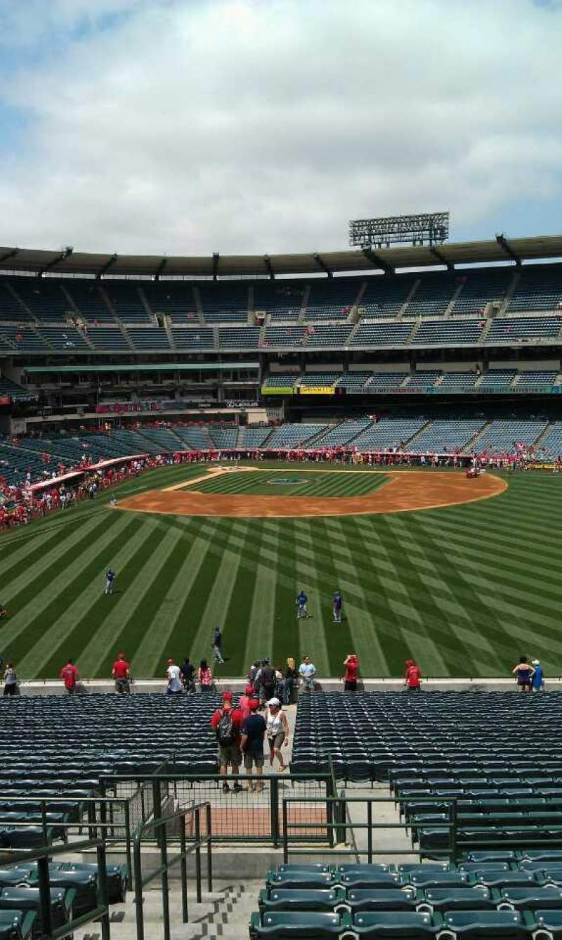Seating view for Angel Stadium Section P246 Row l  Seat 1