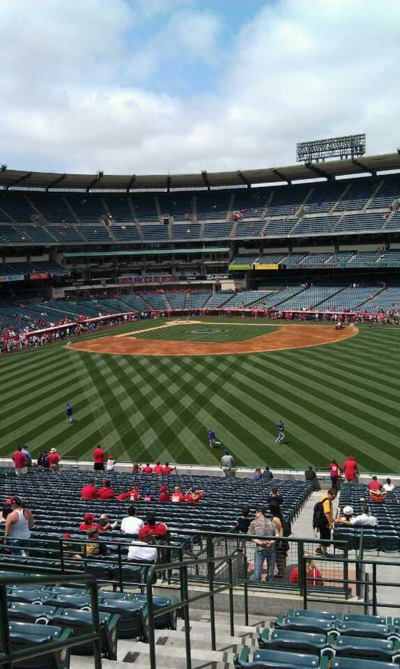 Seating view for Angel Stadium Section 248 Row k  Seat 2