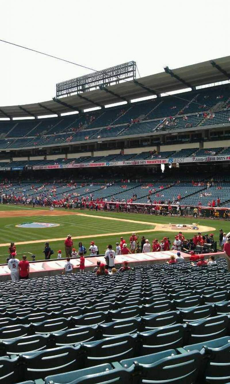 Seating view for Angel Stadium Section 111 Row y  Seat 3