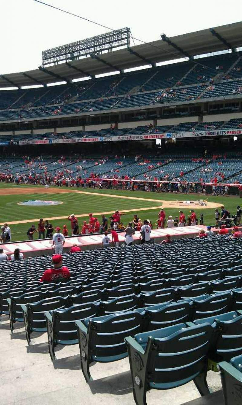 Seating view for Angel Stadium Section F110 Row y Seat 118