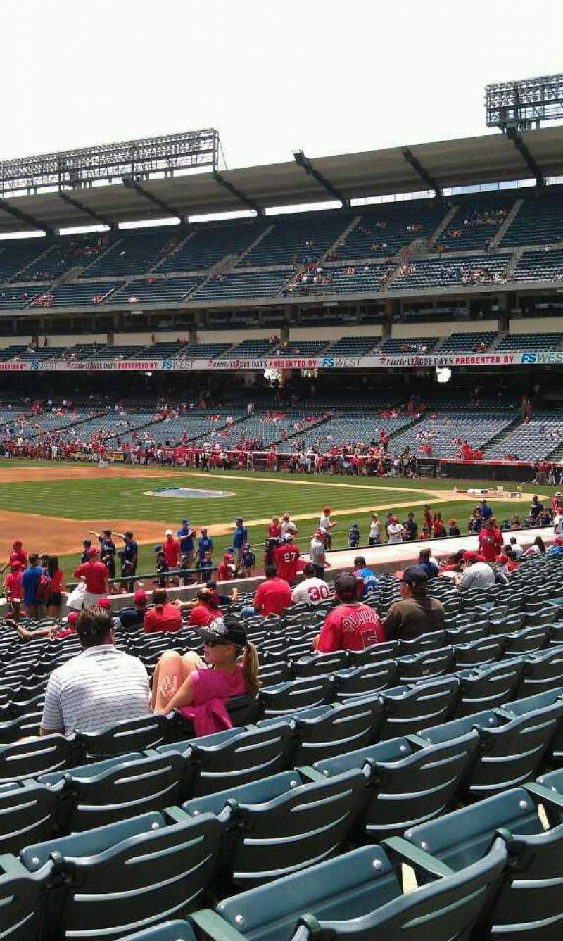 Seating view for Angel Stadium Section F109 Row w Seat 3