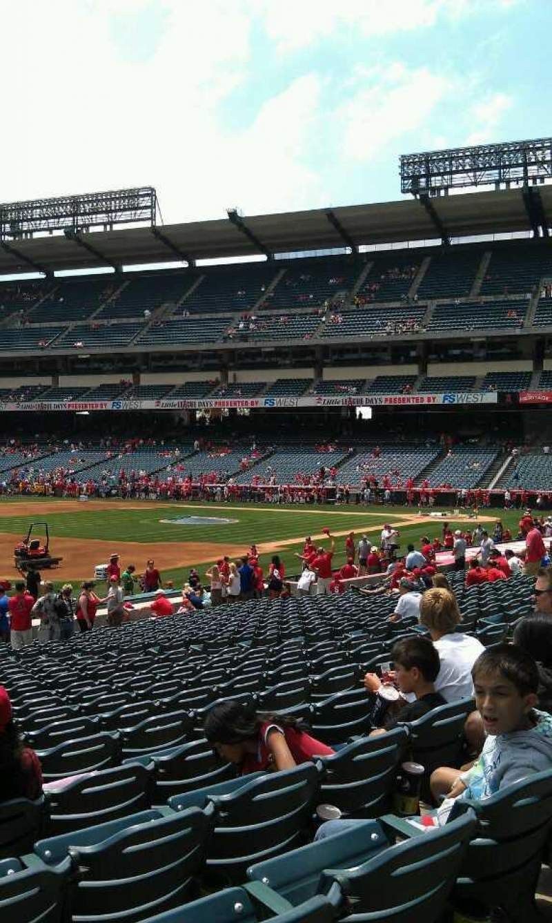 Seating view for Angel Stadium Section 108 Row w Seat 3