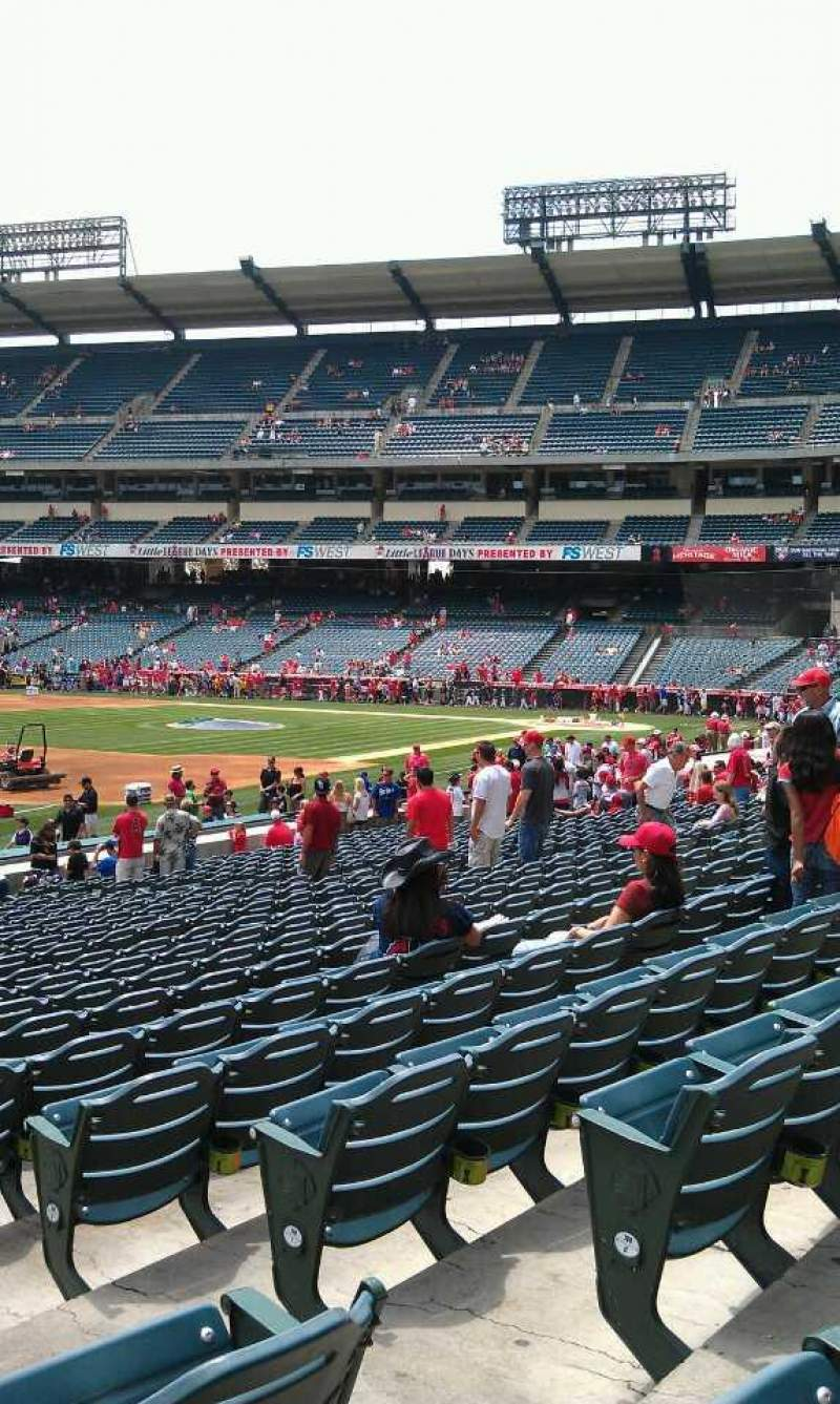 Seating view for Angel Stadium Section F107 Row w Seat 15