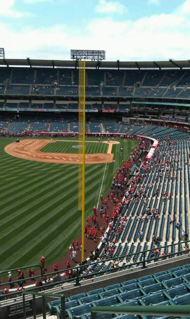 Seating view for Angel Stadium Section 401 Row j Seat 17