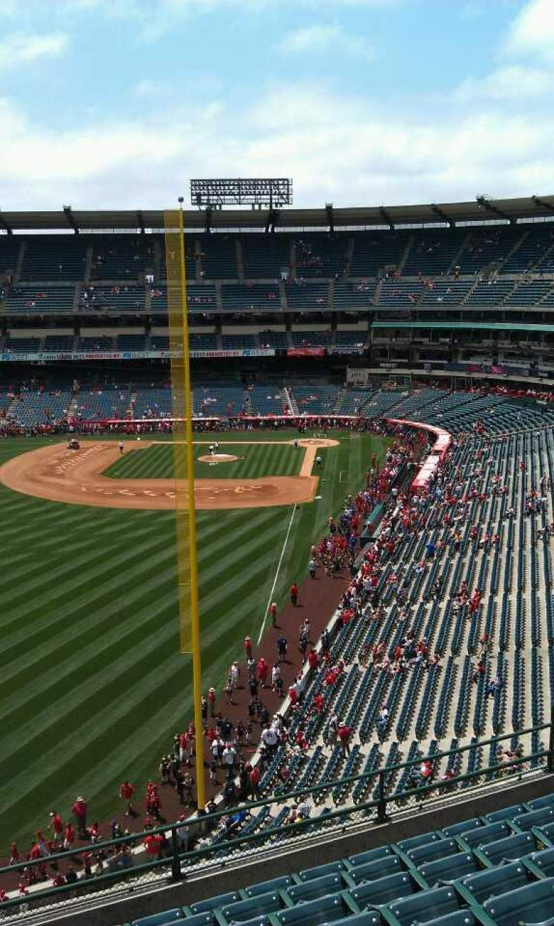 Seating view for Angel Stadium Section V402 Row j Seat 3
