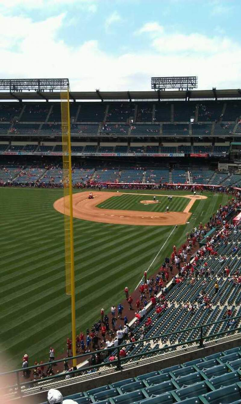 Seating view for Angel Stadium Section V403 Row j