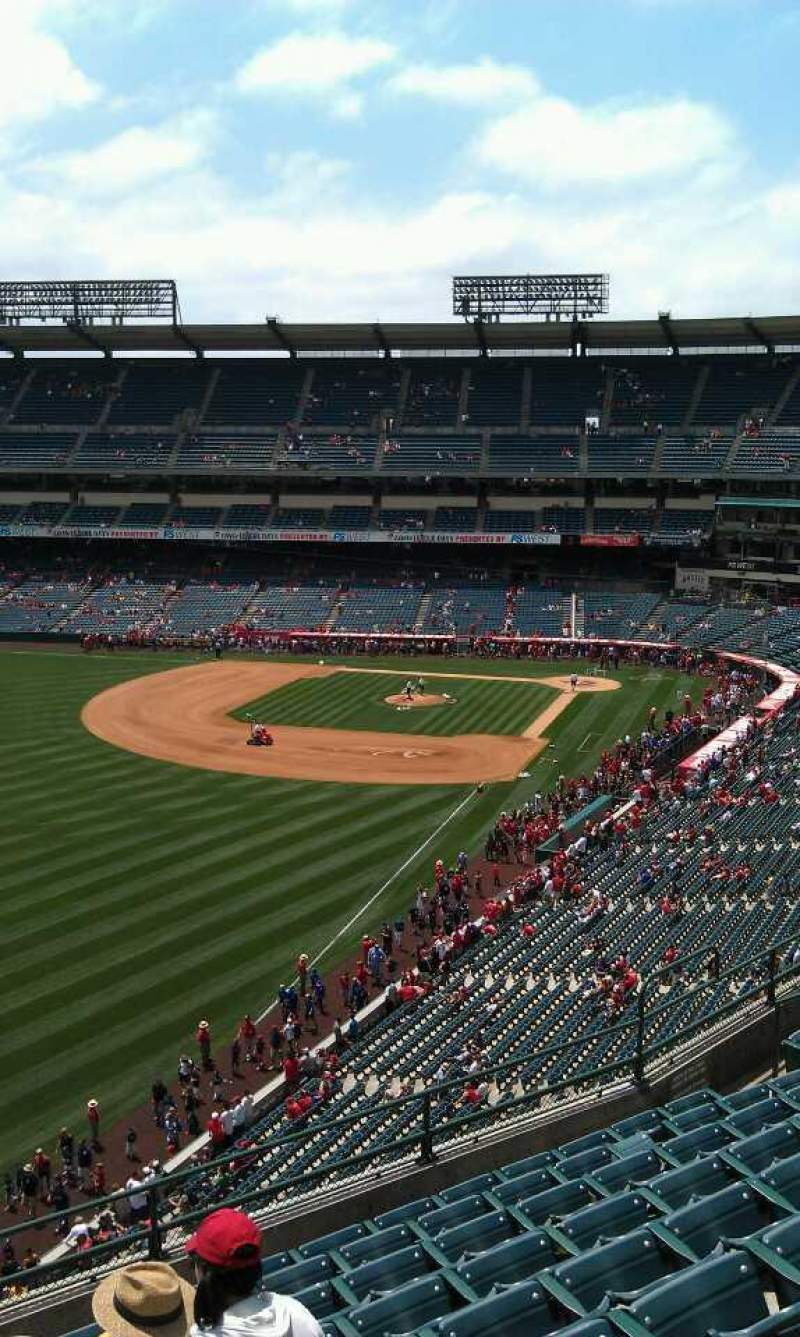 Seating view for Angel Stadium Section 403 Row j Seat 1