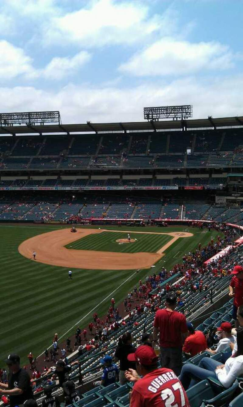 Seating view for Angel Stadium Section V405 Row j  Seat 1
