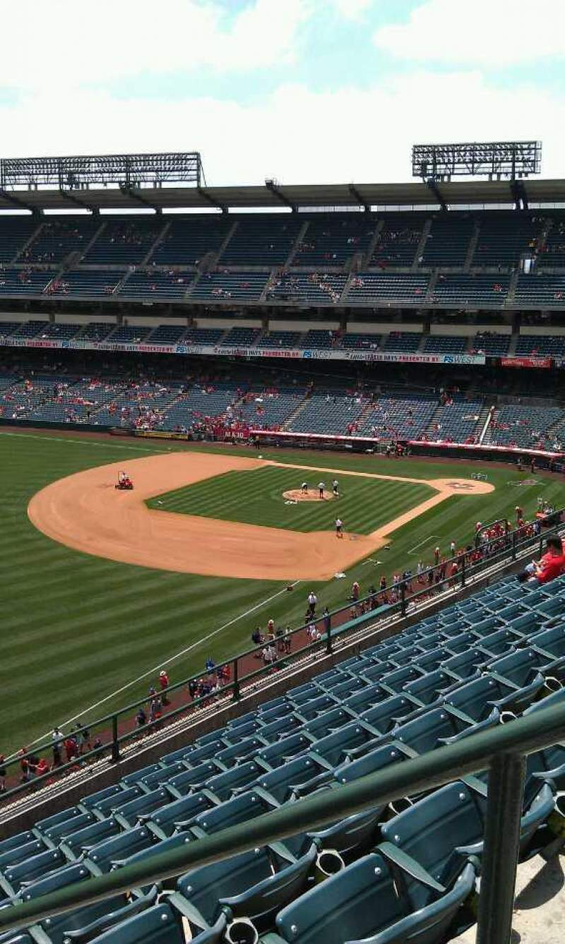 Seating view for Angel Stadium Section 406 Row j  Seat 18