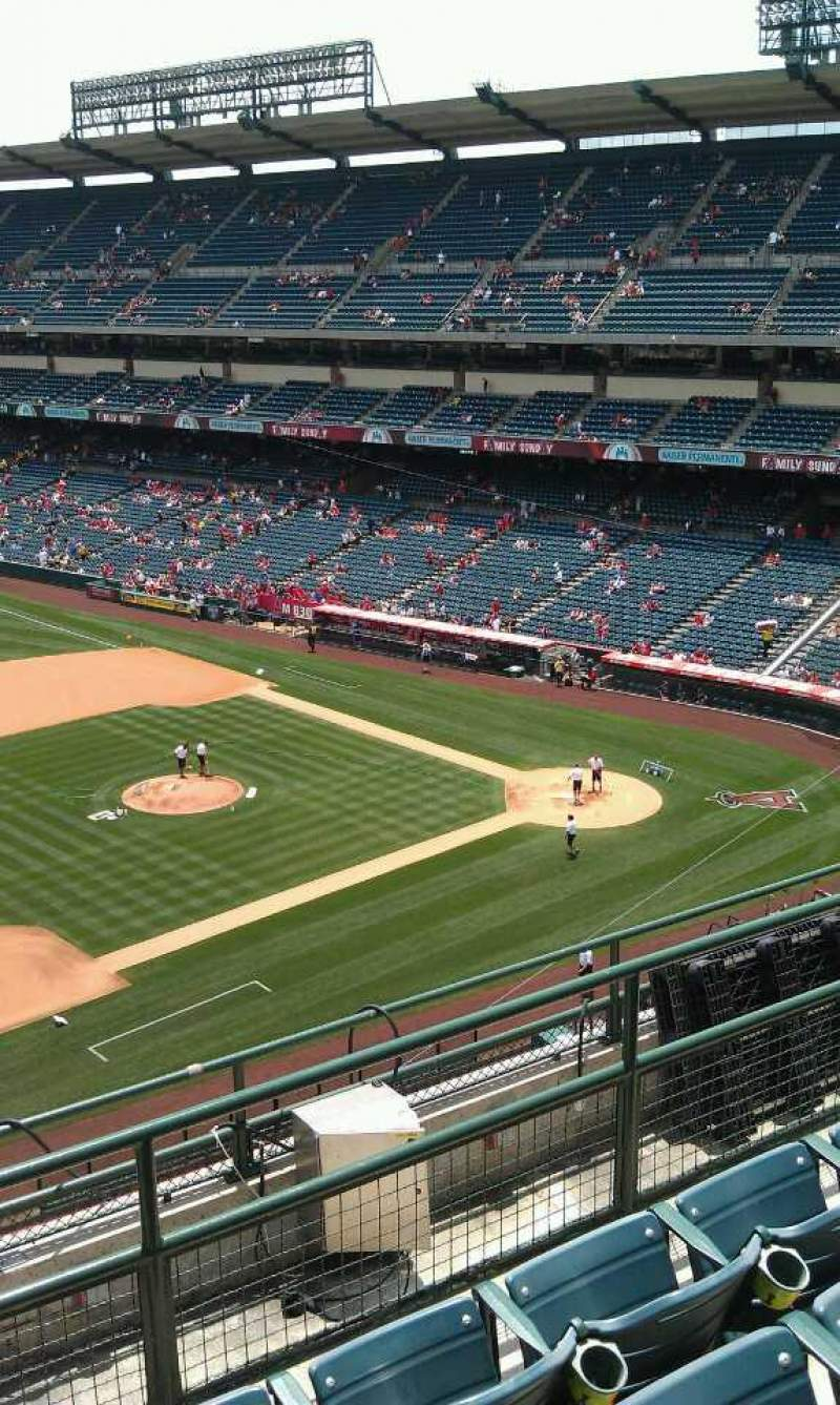 Seating view for Angel Stadium Section 411 Row f  Seat 1