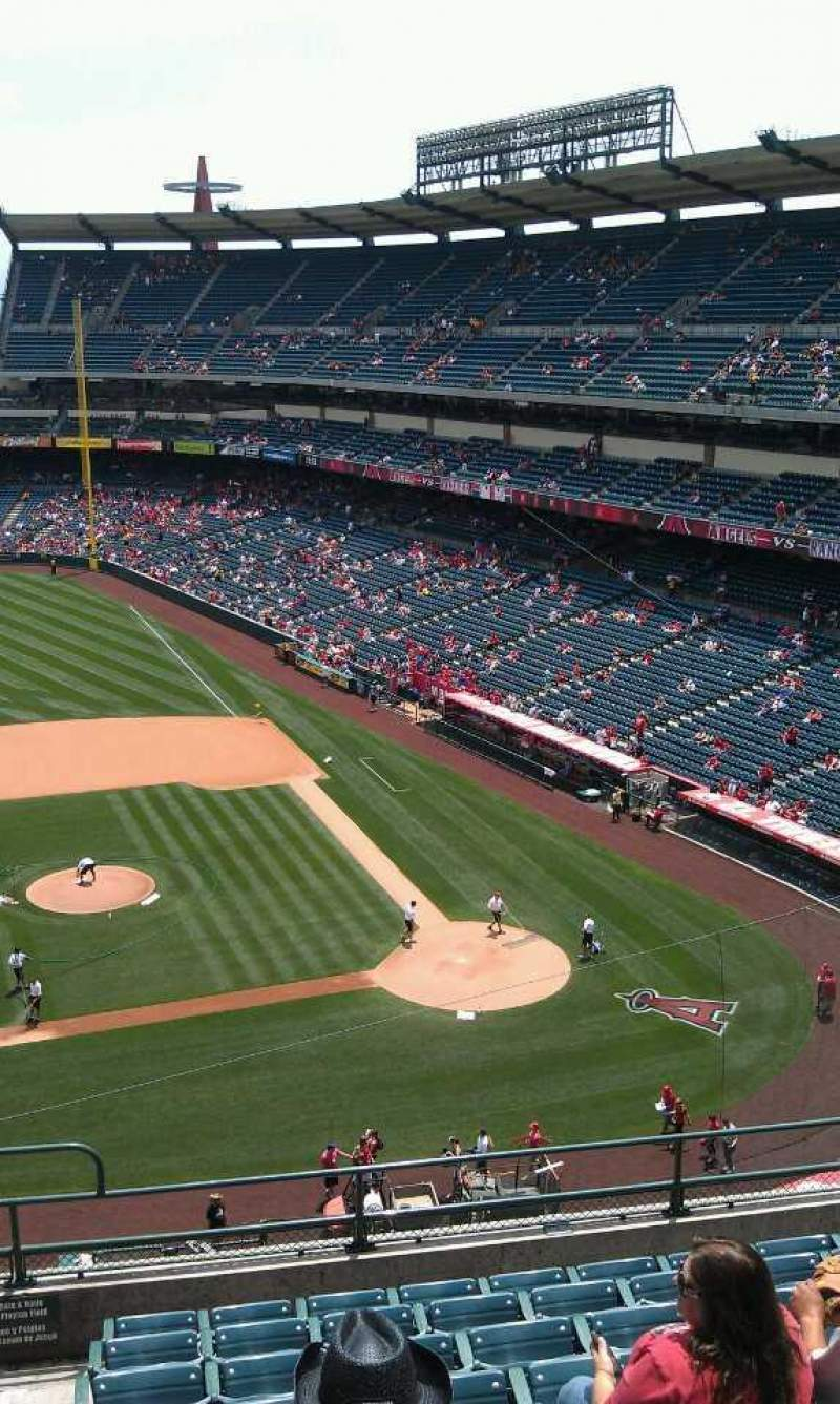 Seating view for Angel Stadium Section 413 Row j  Seat 1