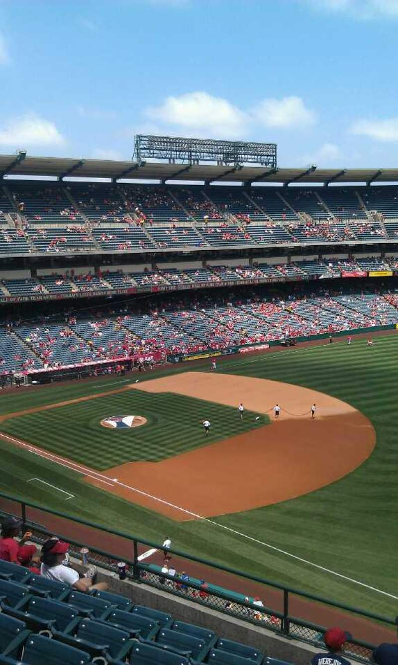 Seating view for Angel Stadium Section V429 Row g Seat 1