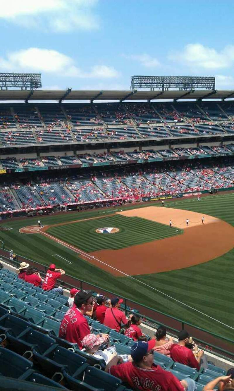 Seating view for Angel Stadium Section V430 Row j  Seat 1