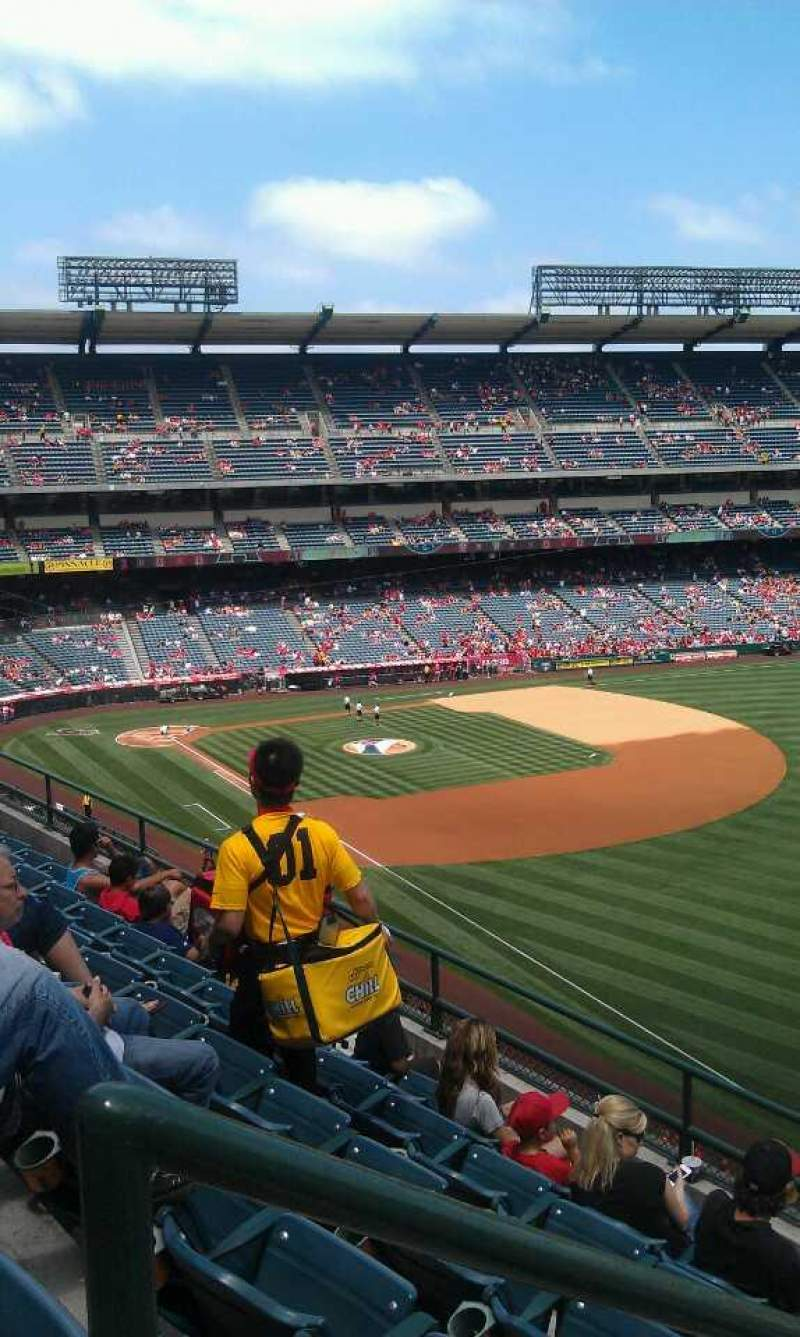 Seating view for Angel Stadium Section 431 Row f  Seat 1