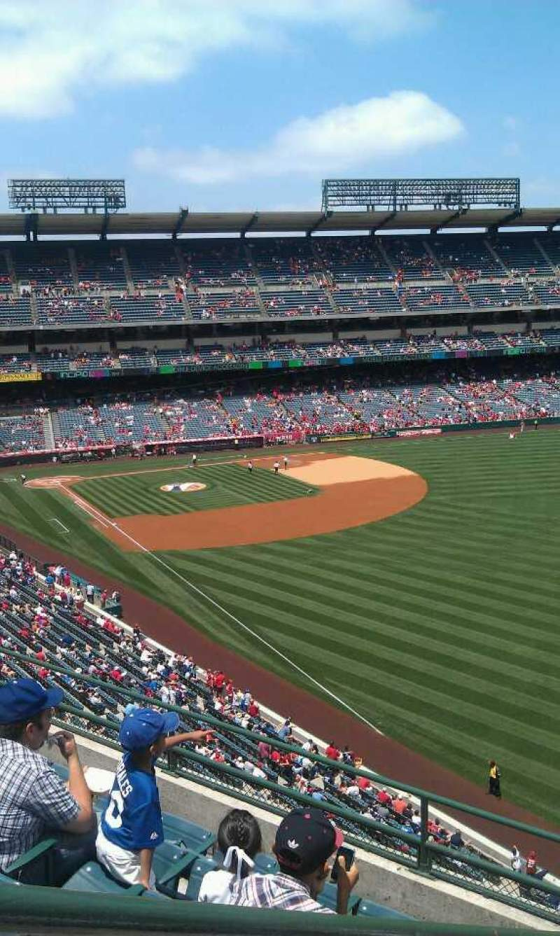 Seating view for Angel Stadium Section V433 Row f  Seat 1