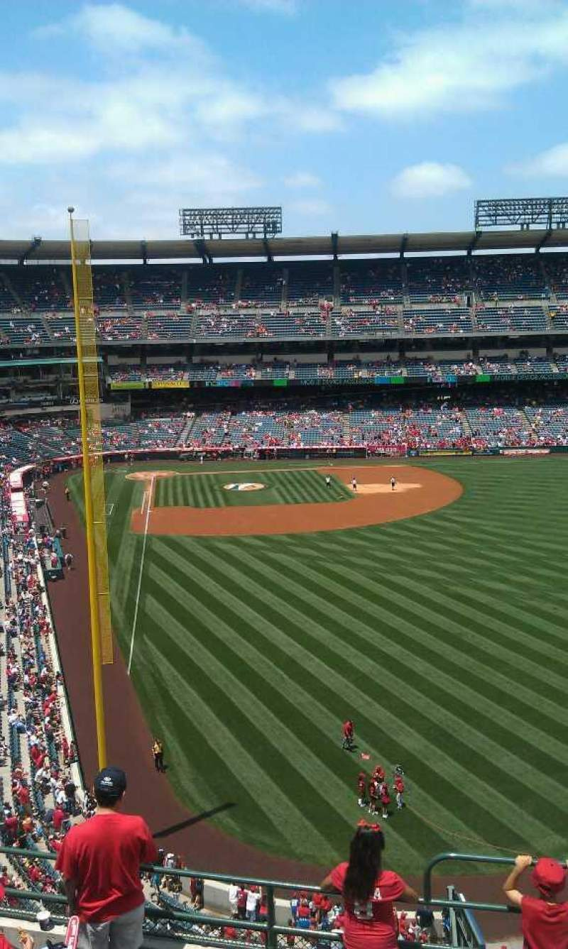 Seating view for Angel Stadium Section 436 Row g  Seat 16