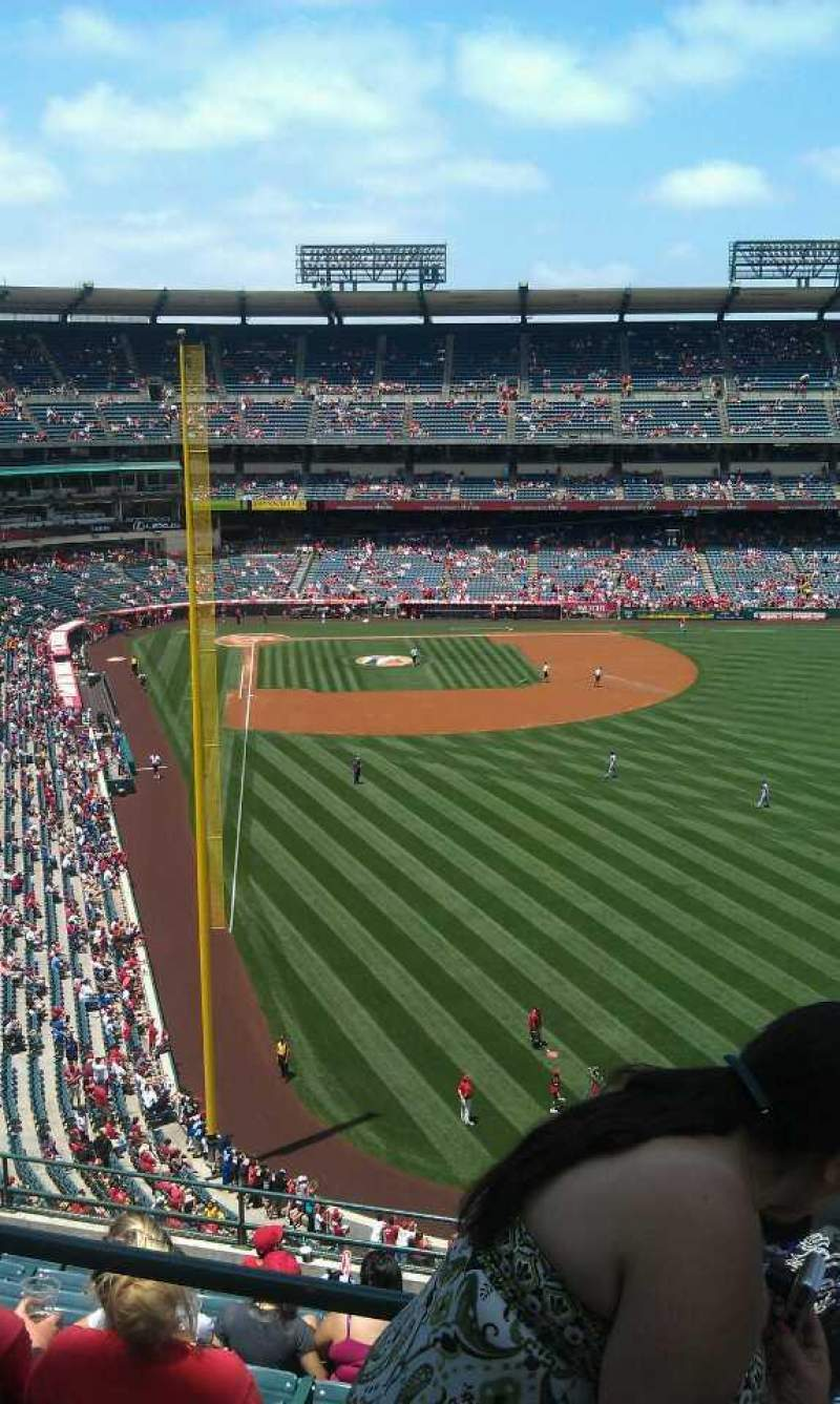 Seating view for Angel Stadium Section V540 Row a  Seat 7