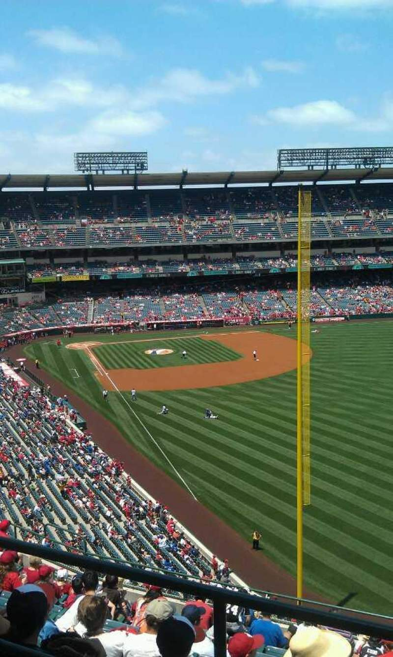 Seating view for Angel Stadium Section V538 Row a  Seat 1
