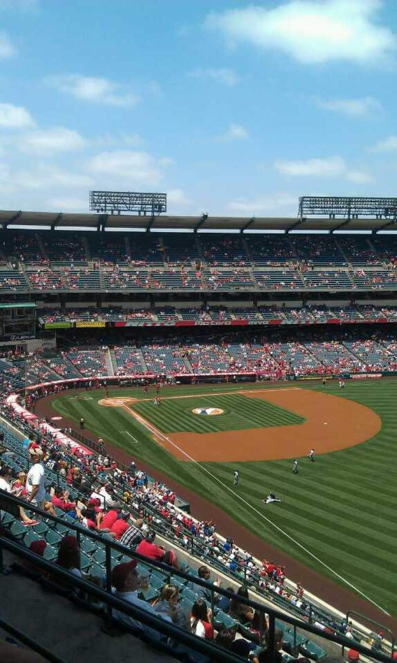 Seating view for Angel Stadium Section 535 Row c Seat 19