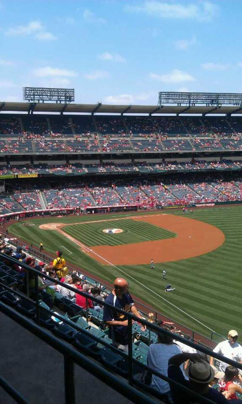 Seating view for Angel Stadium Section 534 Row b Seat 16