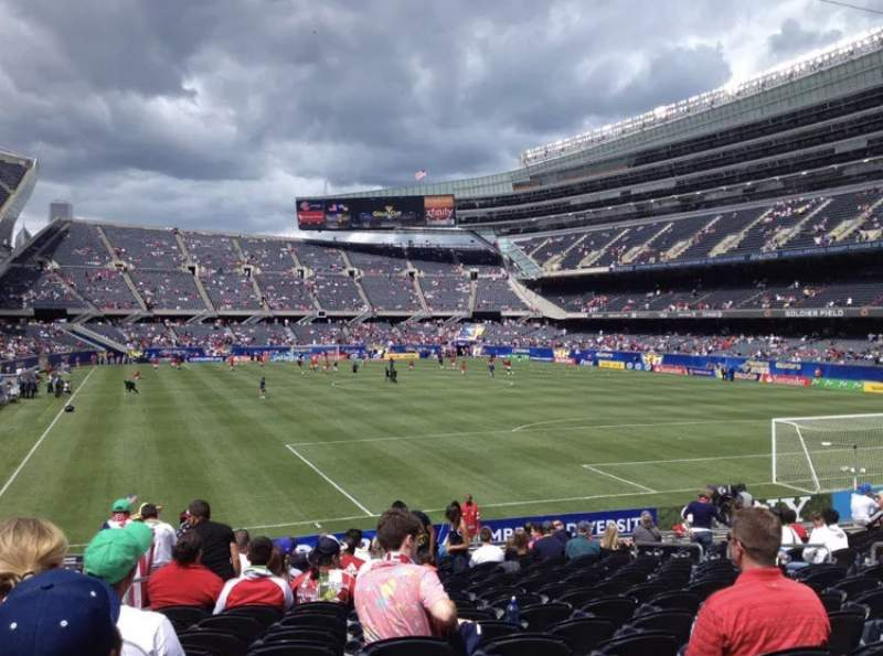 Seating view for Soldier Field Section 125 Row 19 Seat 7